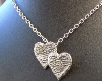 Sterling Silver Two Hearts Necklace Doctor Who Gallifrey
