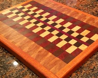 Exotic Wood Endgrain Cutting Board-Customizable