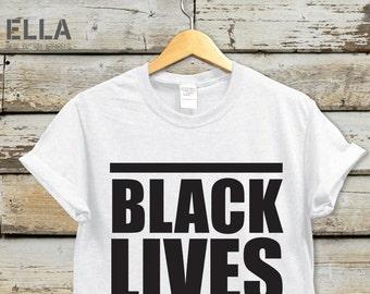 Black Lives Matter Unisex T-shirt - Tshirt for Her - Unisex t-shirt