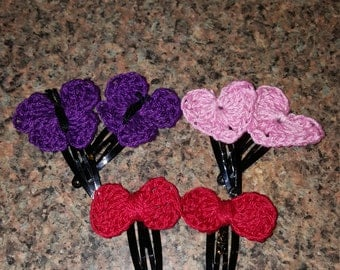 Crocheted Snap Barrettes