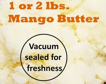 Mango Butter, Organic 1 or 2 lb. Size Vacuum Sealed; FAST SHIPPING! AAA Quality