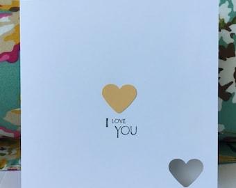 Handmade 'I Love You' Greeting Card