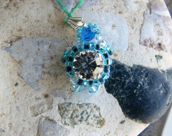 Swarovski turtle pendant