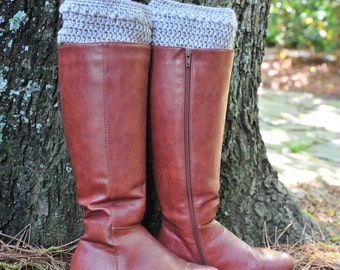 Crochet Boot Cuff,Boot Cuff,100% Cotton. MADE IN USA!