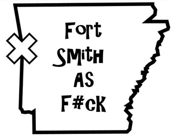 City or State As F#ck Car Decal