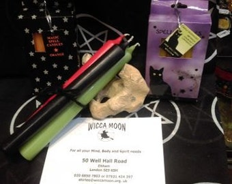 Demdike's Small Spell Casting Candles :- Free Postage and Packing in UK