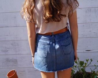 Vintage Style Denim Skirt