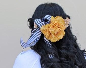 Neutral antique floral crown