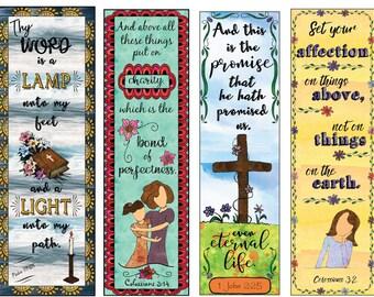 Bible Verse Bookmarks DIY Full Color Print and Cut