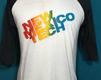Vintage New Mexico Tech 1980's SOFT Ringer t-shirt - vintage tees - vintage t shirt - retro - ringer tshirt - university (XL)