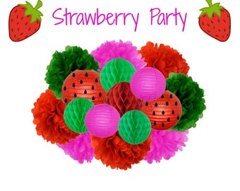 Strawberry Party Decoration - Hanging Decoration