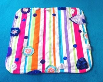 Baby Girl, Play Mat, Tummy Time, Texture Mat, Nursery Decor, Montessori, Busy Blanket, Nursery Rug, Activity Mat, Baby Shower