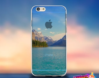 iPhone 7 Clear Case river mountain Soft Transparent iPhone 7 Case, iPhone 7 Plus Case Clear, iPhone 6s/6 Clear, iPhone 6s/6 Plus Clear