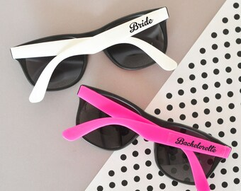 Bachelorette party sunglasses-set of 6- bachelorette sunglasses, wedding sunglasses, wedding favors, bridal party favors, bridal party gifts