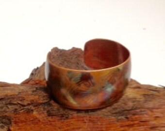 Copper Flamed Patina Cuff Bracelet