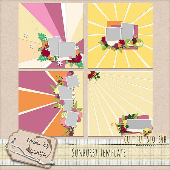 Sunburst Template Set