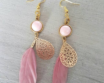 Ibiza style earrings with spring
