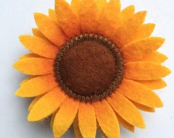 Sunflower Badge Pull