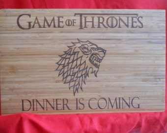 Game of Thrones- House Stark Custom Cutting Board.