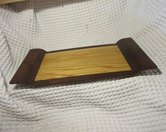 Sculpted White Oak and Walnut cutting board/ cheese tray