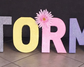 """8"""" Painted and Glittered Letters"""