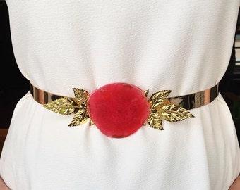 Golden belt red agate