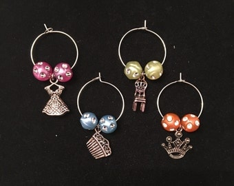 Fairy tail wine charms