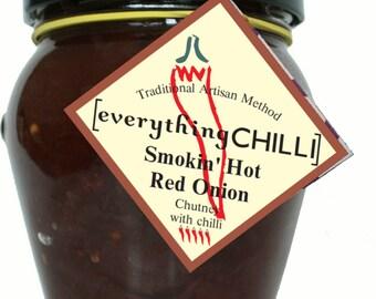 Smokin' Hot Red Onion Chutney with Chilli