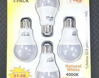 9W-60W LED Light Bulbs UL A19  806 Lumens 4000K Natural day Light