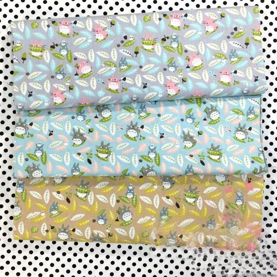 Neighbor Totoro Leaves Printed Twill Cotton Fabric Diy