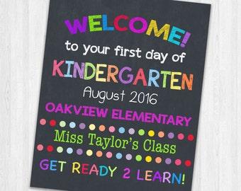 Teachers Classroom Wall Signs | Teachers First Day of School Sign
