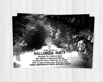 Scary Halloween Invitations, Printable Halloween Invites, Party Invitations, Halloween Printable invitations