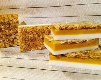 Organic Pumpkin Tiramisu and Oats Soap
