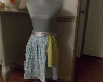 Turquoise and Green Circles Apron
