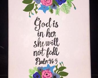 """Psalms 46:5 Canvas (8"""" X 11"""")"""