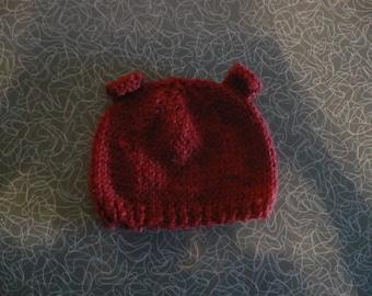 Teddy Bear Baby Hat