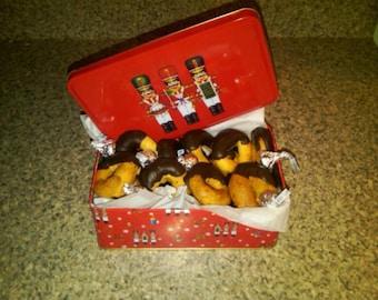 Chocolate Dipped Beer Cookies