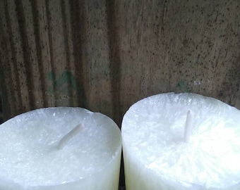 Palm wax votives. Patchouli.