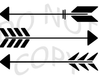 Reusable Stencil - Three Arrows - Many Sizes to Choose from!