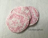 Makeup pads Pink floral, reusable makeup pads, facial rounds
