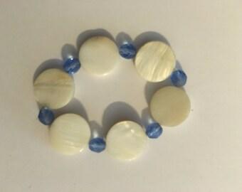 Blue Strech Beaded Bracelet