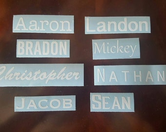 Personalized Name Vinyl Decal and/or Any Words