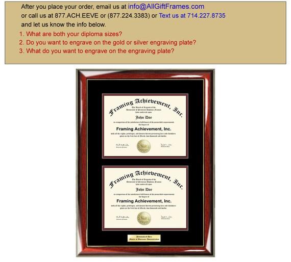 Dual Certificate Frames Double Diploma Graduation Frame