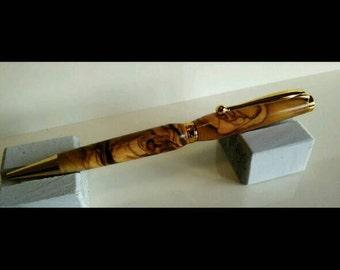Ballpoint handmade olive wood