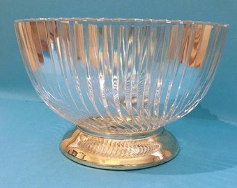 Crystal and Silver bowl