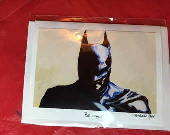 hand made greeting card - frame-able art cards - Batman