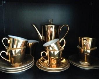 Vintage Glamour Gold Coffee Set