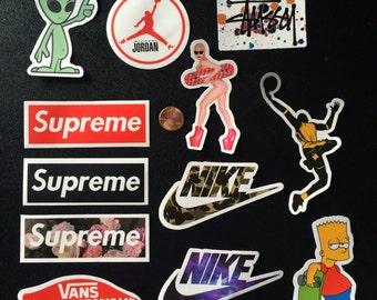12pc waterproof stickers