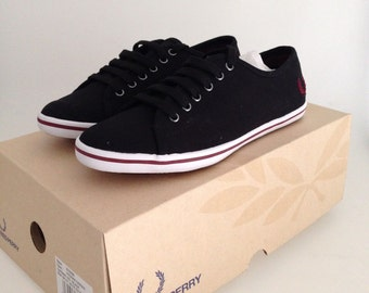 FRED PERRY BASKETS chaussures phoenix noires 36
