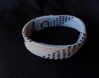 Hockey Lace Bracelet - Grey